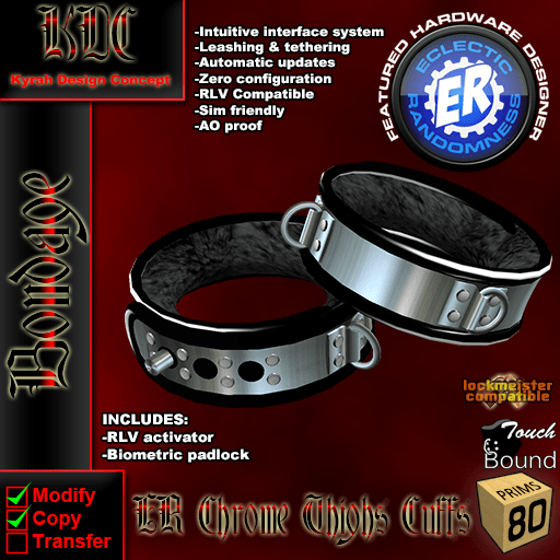 ER Chrome thighs cuffs