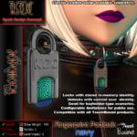 fingerprint padlock product shot