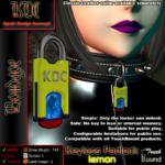 Keyless padlock - lemon