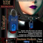 Keyless padlock - navy