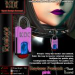 Keyless padlock - pink
