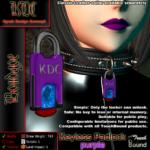 Keyless padlock - purple