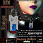 Keyless padlock - white