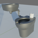 Toilet and sink flat shaded