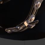 ballgag high-poly model, chin strap details