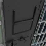 cell door window shutter closed