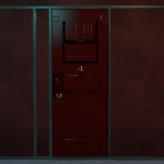Omnious red cell door